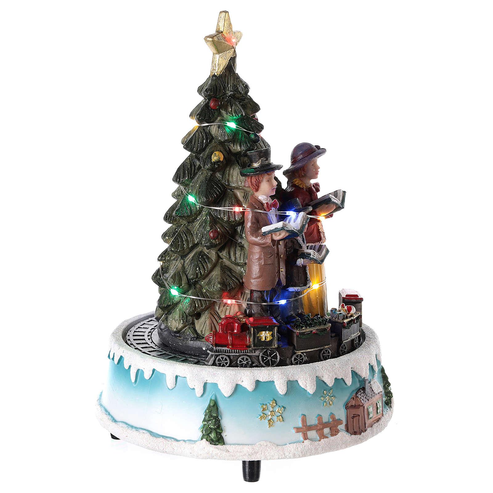Árbol de Navidad con coro 15x20 cm 3