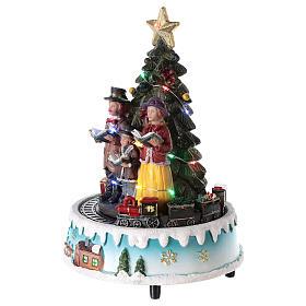 Árbol de Navidad con coro 15x20 cm s3