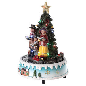 Sapin de Noël avec choeur 15x20 cm s3