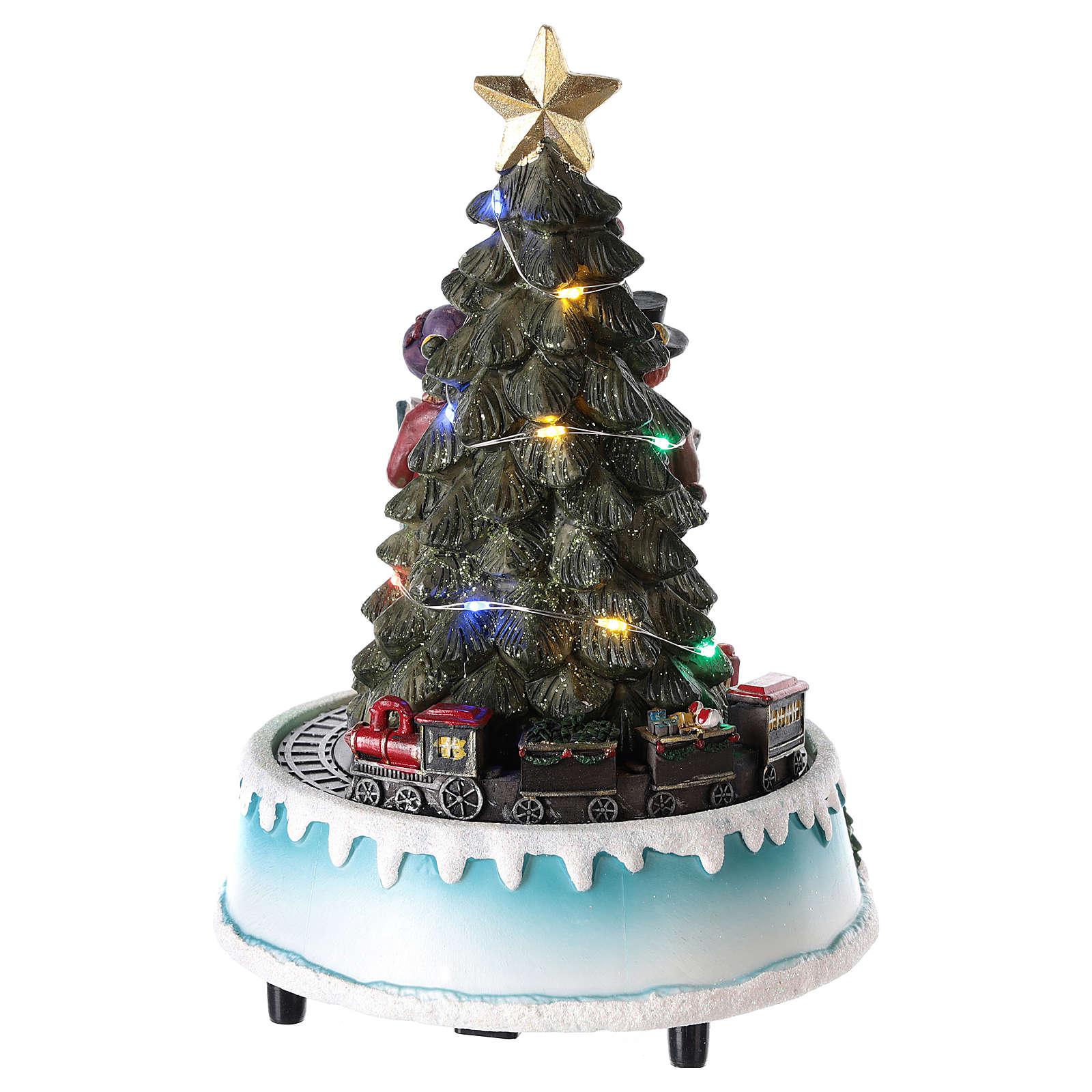 Albero di Natale con coro 15x20 cm 3