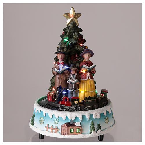Albero di Natale con coro 15x20 cm 2