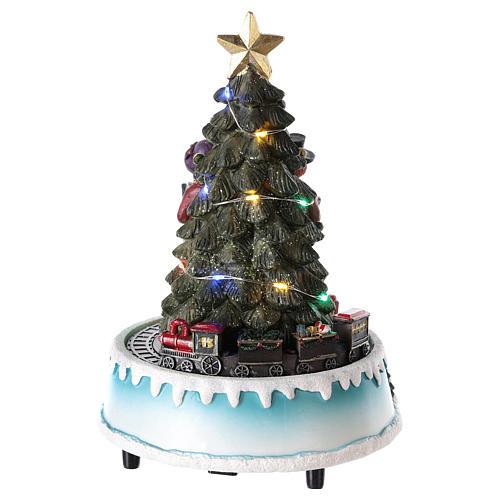 Albero di Natale con coro 15x20 cm 5