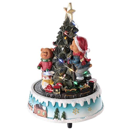 Albero di Natale con orso e altri giochi 15x20 cm 3