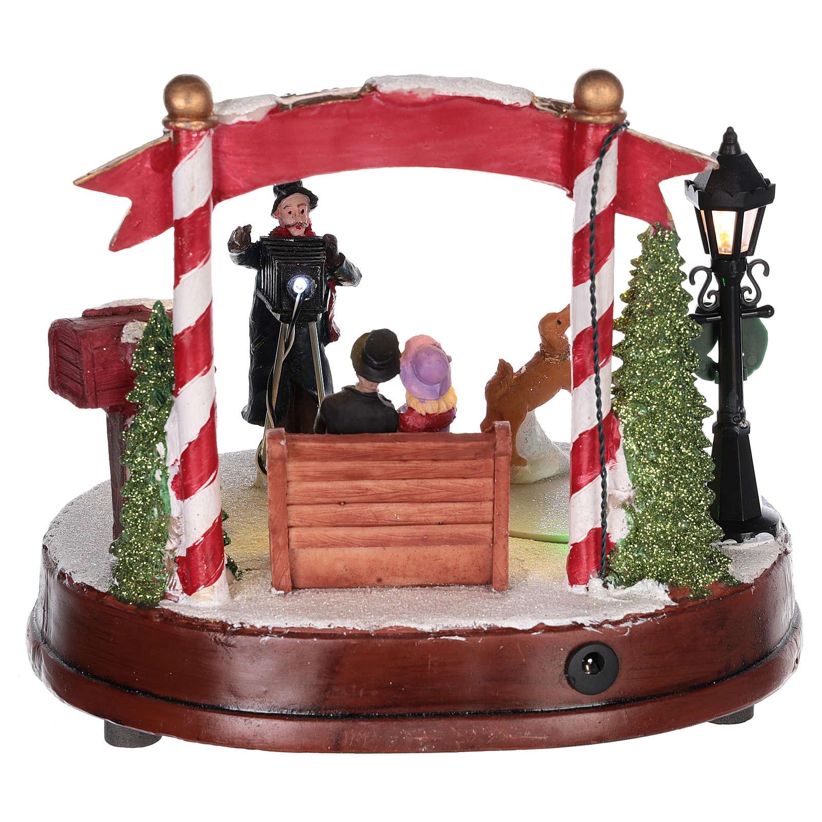 Escena para pueblo navideño: fotógrafo 15x20 cm 3