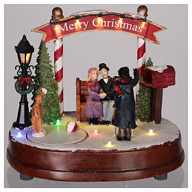 Escena para pueblo navideño: fotógrafo 15x20 cm s2