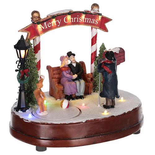 Escena para pueblo navideño: fotógrafo 15x20 cm 4