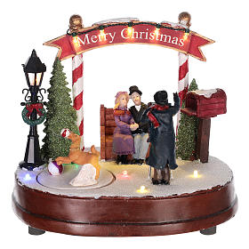 Villages de Noël miniatures: Scène pour village de Noël photographe 15x20 cm