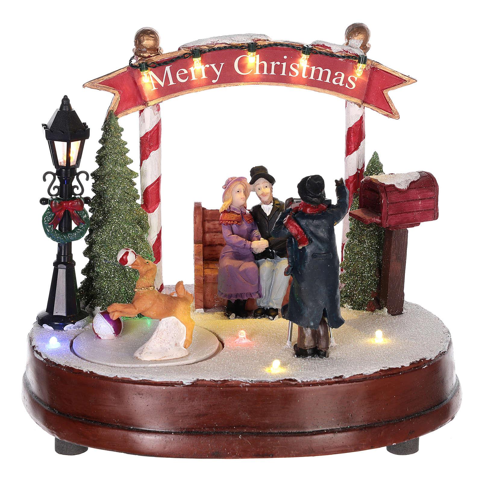 Scena per villaggio natalizio: fotografo 15x20 cm 3