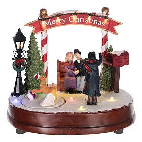Scena per villaggio natalizio: fotografo 15x20 cm s1
