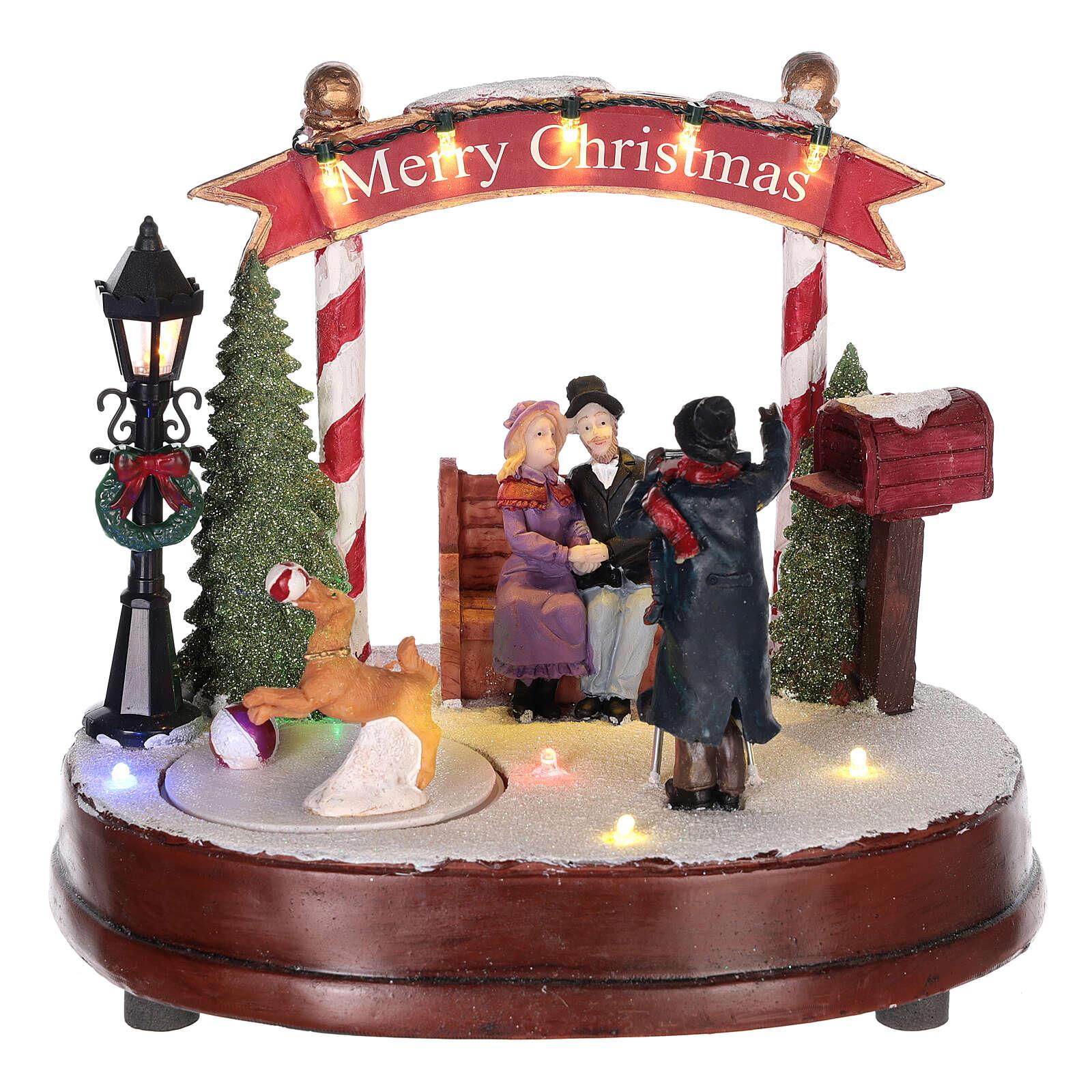 Scenka do bożonarodzeniowego miasteczka: fotograf 15x20 cm 3