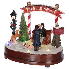 Scenka do bożonarodzeniowego miasteczka: fotograf 15x20 cm s3