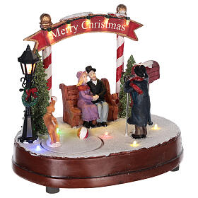 Scenka do bożonarodzeniowego miasteczka: fotograf 15x20 cm s4