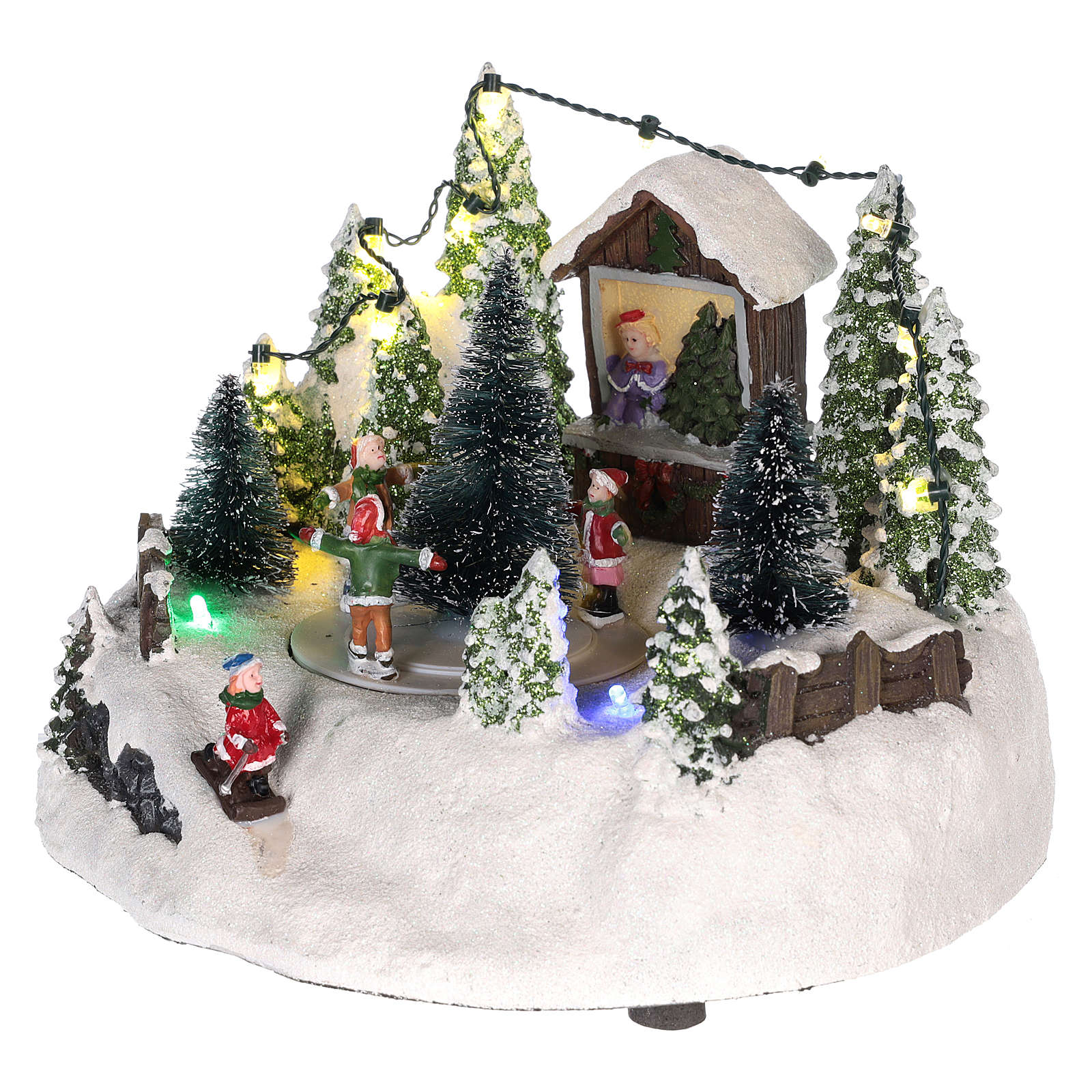 Christmas village with Christmas tree and skating rink 15x20 3