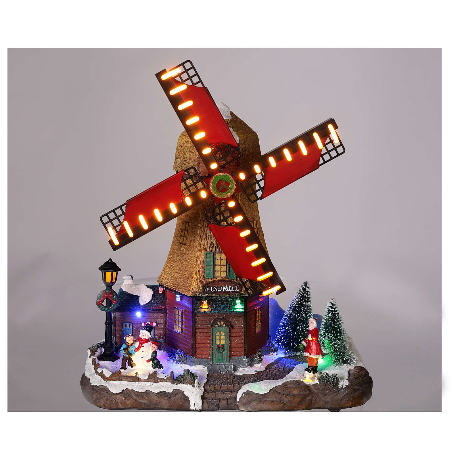 Wind mill with lights and music 25x25x10 cm 3