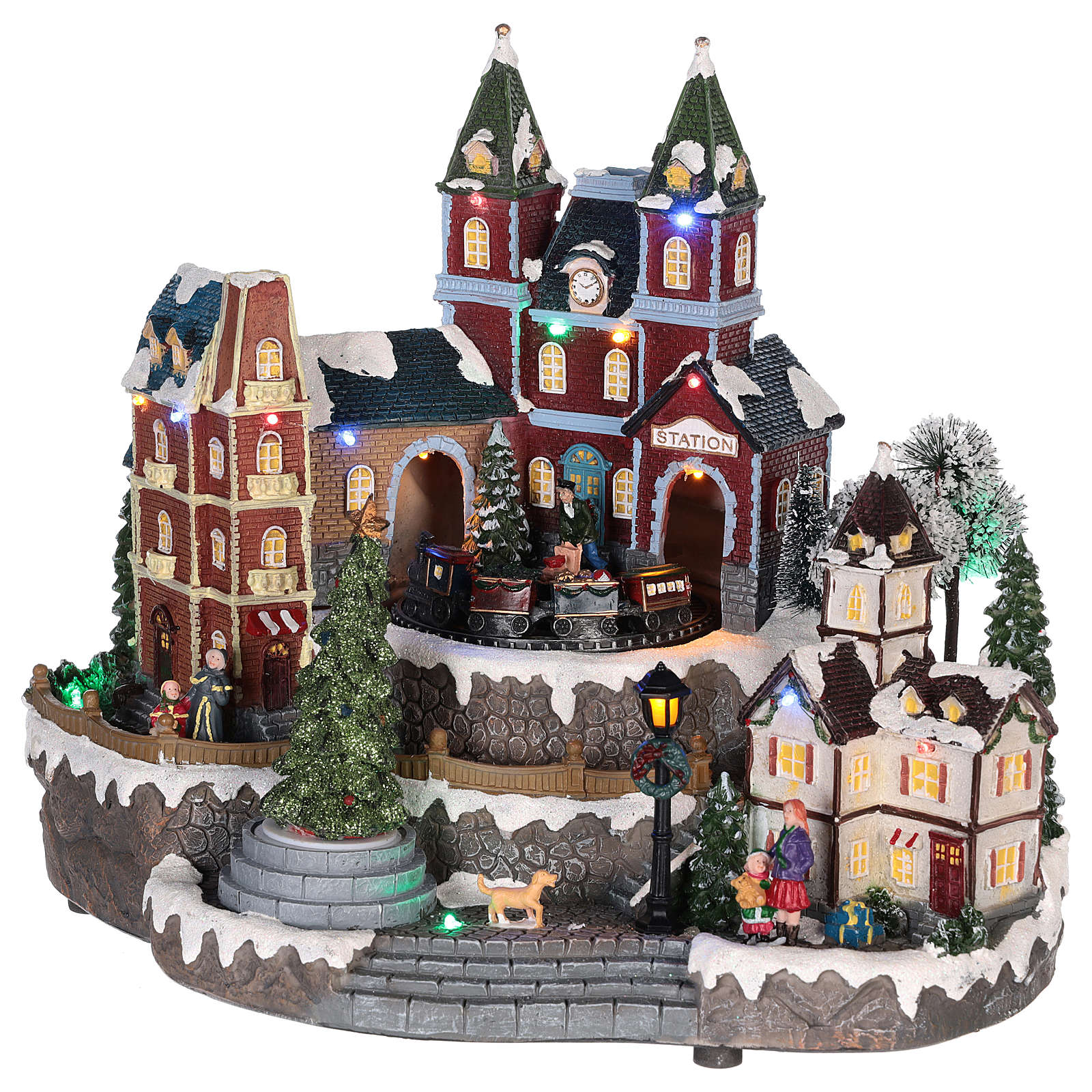 Christmas-themed train station 30x35x25 cm 3
