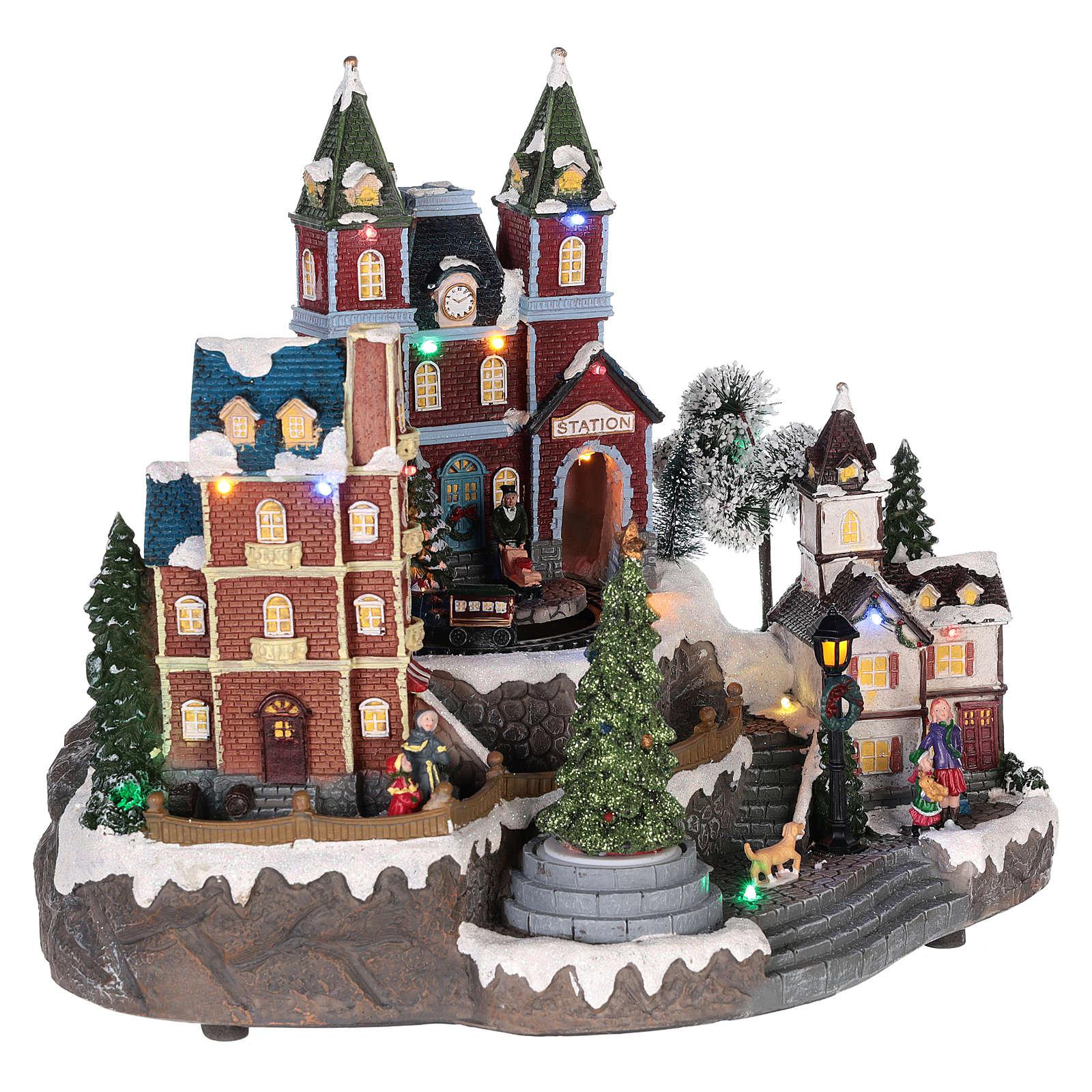 Christmas-themed train station 30x35x25 cm 3