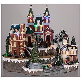 Christmas-themed train station 30x35x25 cm s2