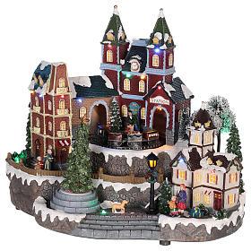 Christmas-themed train station 30x35x25 cm s3