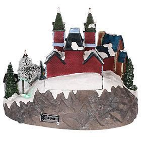Christmas-themed train station 30x35x25 cm s5
