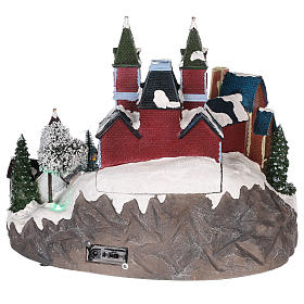 Christmas themed train station 30x35x25 cm s5