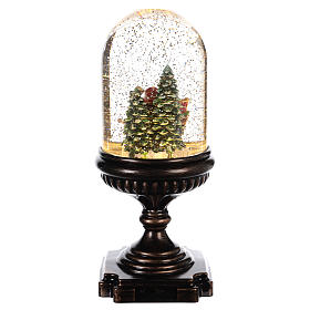 Schneekugel mit Weihnachtsmann auf Schlitten, 25x12x12 cm s4