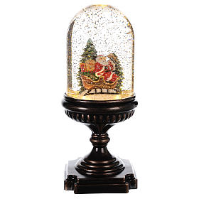 Christmas snow globes: Christmas ball with Santa Claus on a sledge 25x12x12 cm