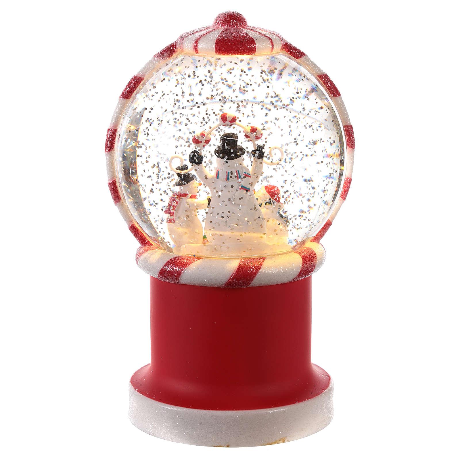 Bola de nieve en forma de distribuidor de caramelos 20x10 cm 3