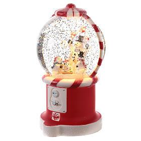 Candy dispenser snow globe 20x10 cm s2