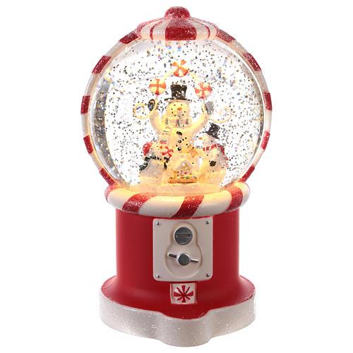 Candy dispenser snow globe 20x10 cm 1
