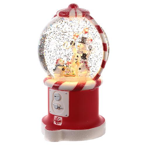 Candy dispenser snow globe 20x10 cm 2