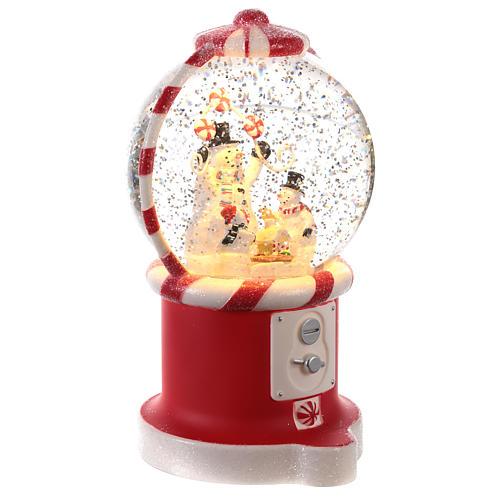 Candy dispenser snow globe 20x10 cm 3