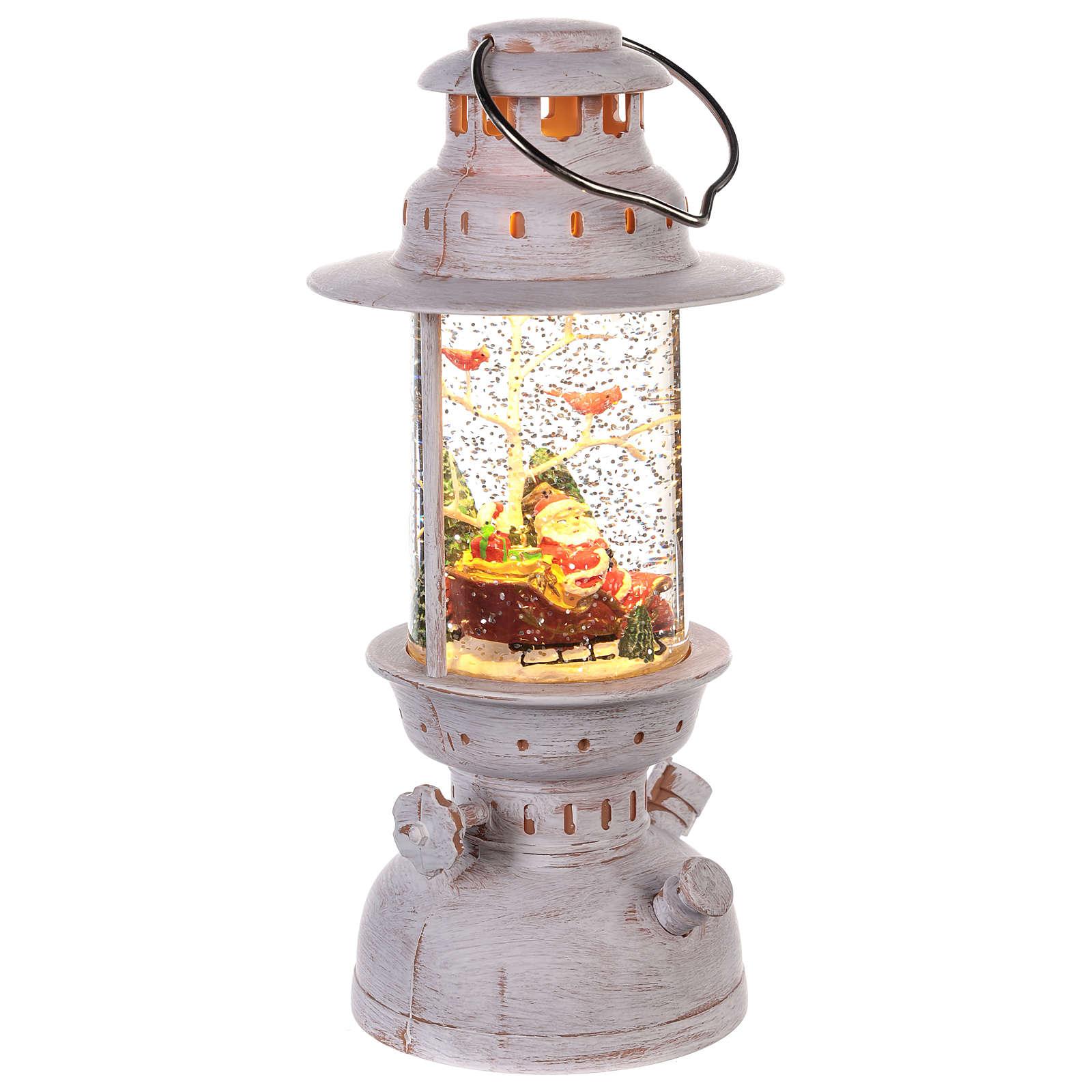 Santa Claus snow globe lantern shape 20x10 cm 3