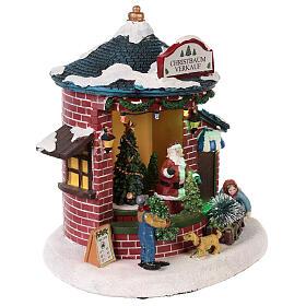 Weihnachtsdorf mit Weihnachtsmann und Weihnachtsbaum, 20x20x20 s4