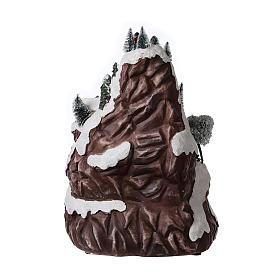 Décor de Noël montagne éclairée avec musique 45x30x30 cm s5