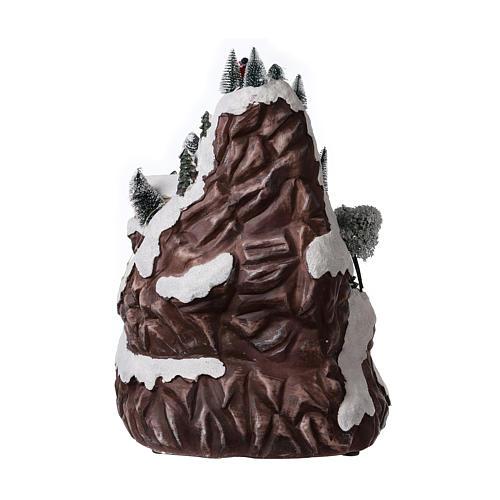 Décor de Noël montagne éclairée avec musique 45x30x30 cm 5