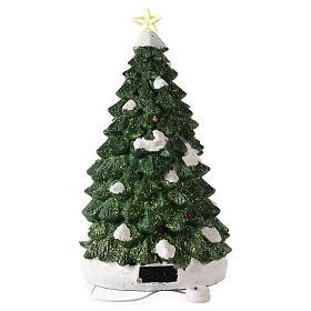 Árbol Navidad con tren en movimiento 40x20x20 cm s5