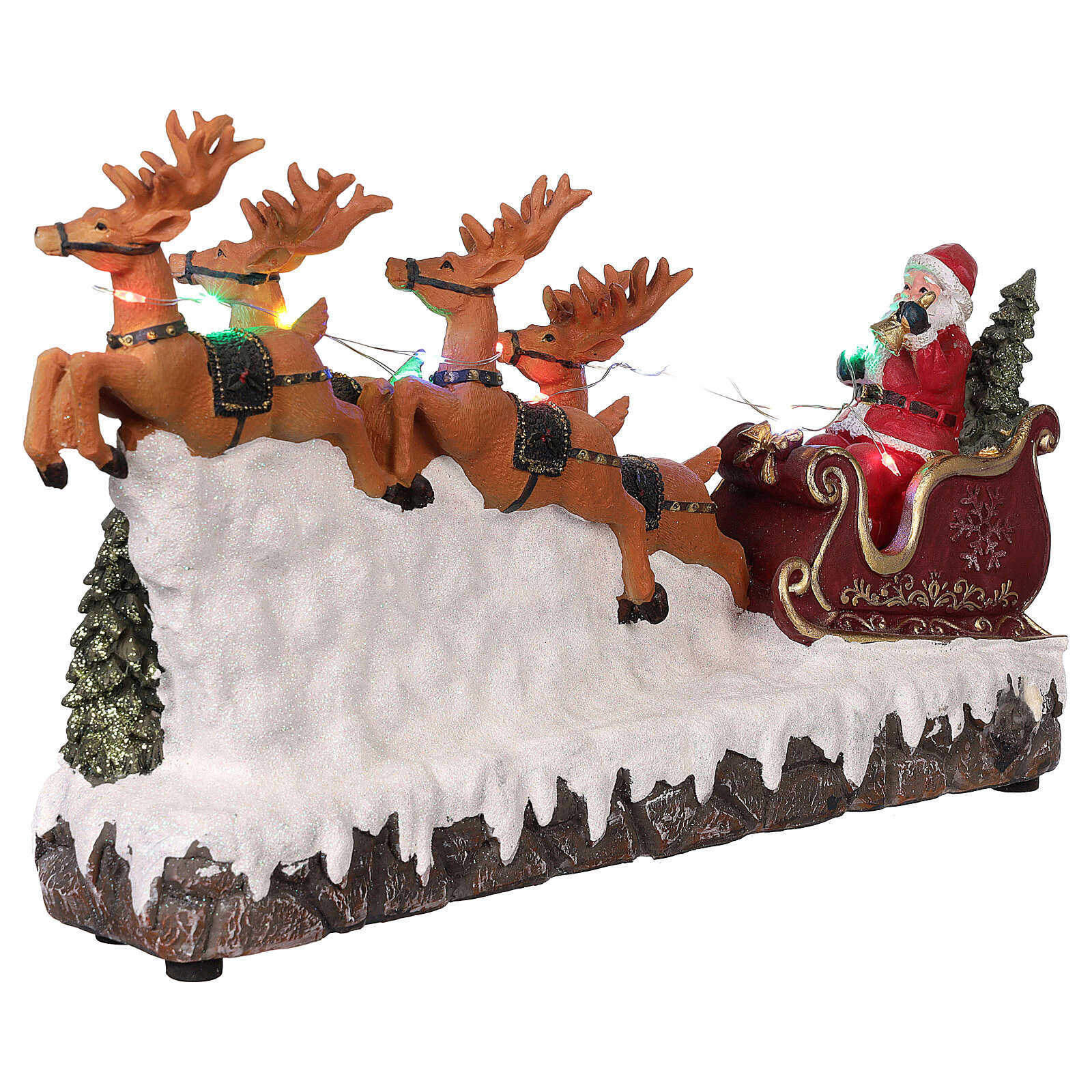 Christmas village Santa's sleigh with lights and music 25x40x10 cm 3