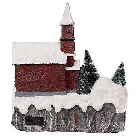 Villaggio natalizio animato movimento luce musica 30x25x20 s5
