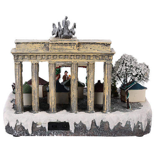 Christmas village Berlin with moving elements, lights and music 25x20x25 cm 5