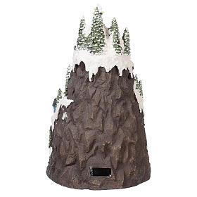 Villaggio natalizio montagna innevata movimento luce musica 50x35x30 s5