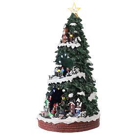 Villaggio natalizio pista pattinaggio 40x20x20 cm s3
