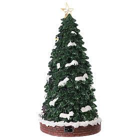 Villaggio natalizio pista pattinaggio 40x20x20 cm s4