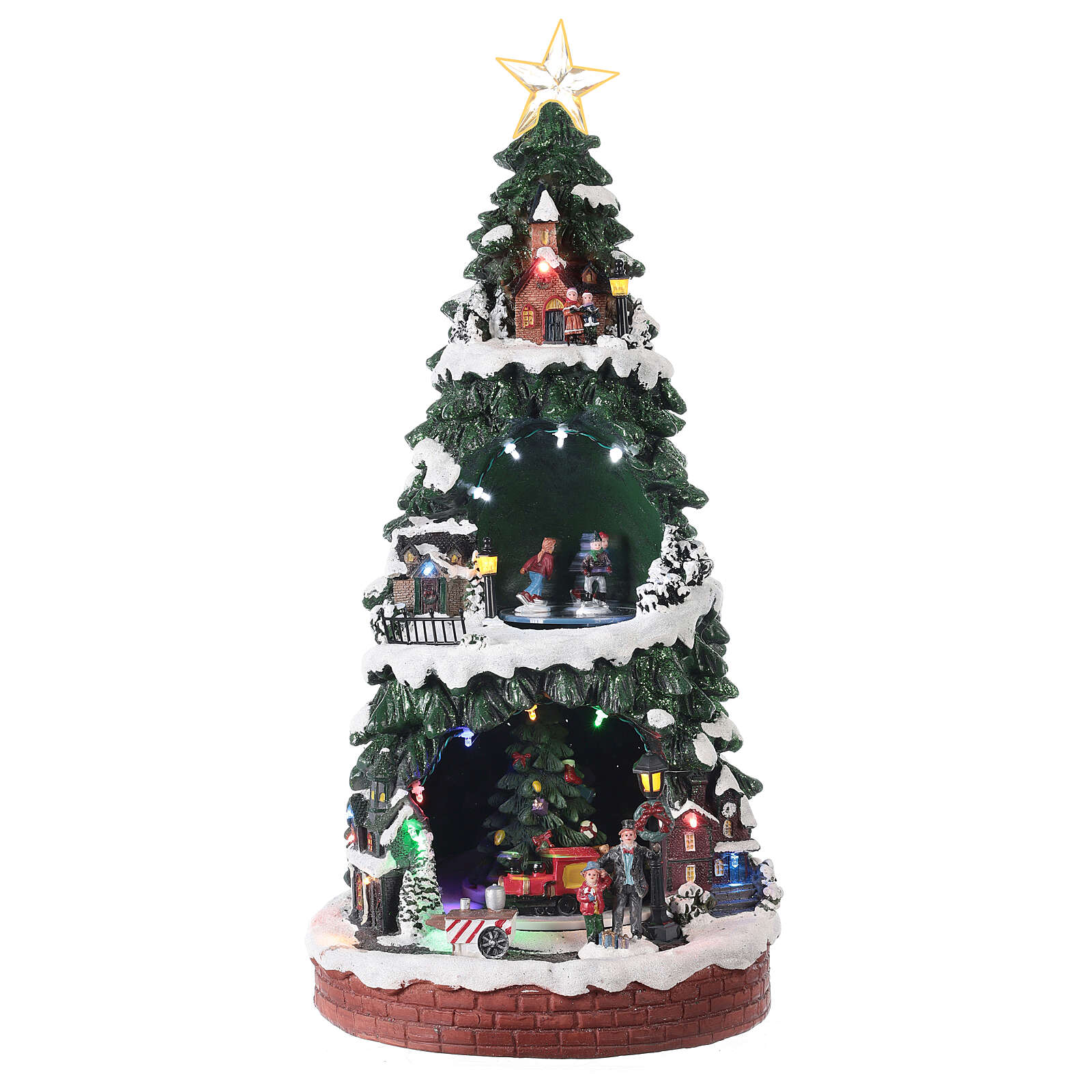 Christmas village with ice rink 40x20x20 cm 3