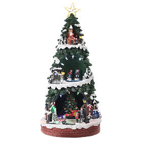 Christmas village with ice rink 40x20x20 cm s1