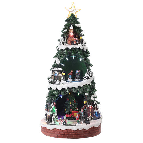 Christmas village with ice rink 40x20x20 cm 1