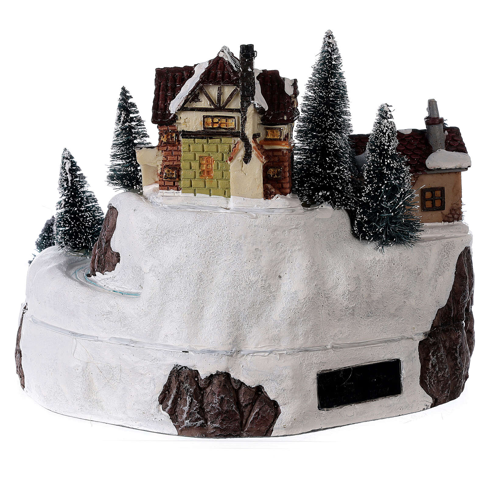 Lighted Christmas village with Santa Claus music 25x25 cm 3