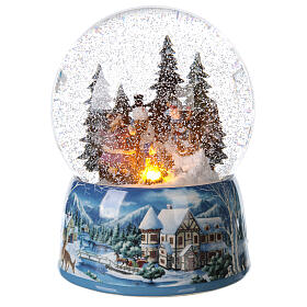 Christmas snow globe snowman children music 20x15x15 cm s1