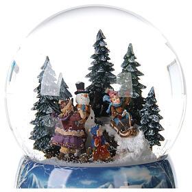 Christmas snow globe snowman children music 20x15x15 cm s4