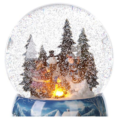Christmas snow globe snowman children music 20x15x15 cm 2