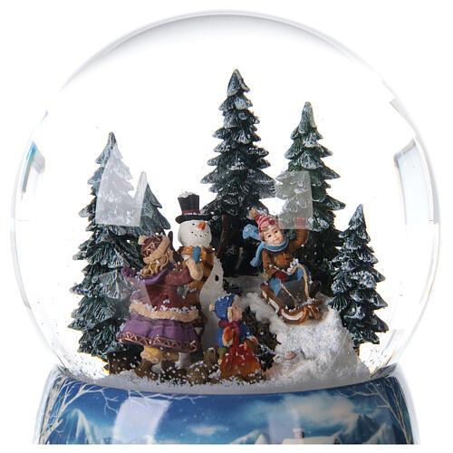 Christmas snow globe snowman children music 20x15x15 cm 4